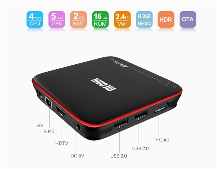 M8S PRO W Amlogic S905W 2gb ram 16gb rom google android smart tv box