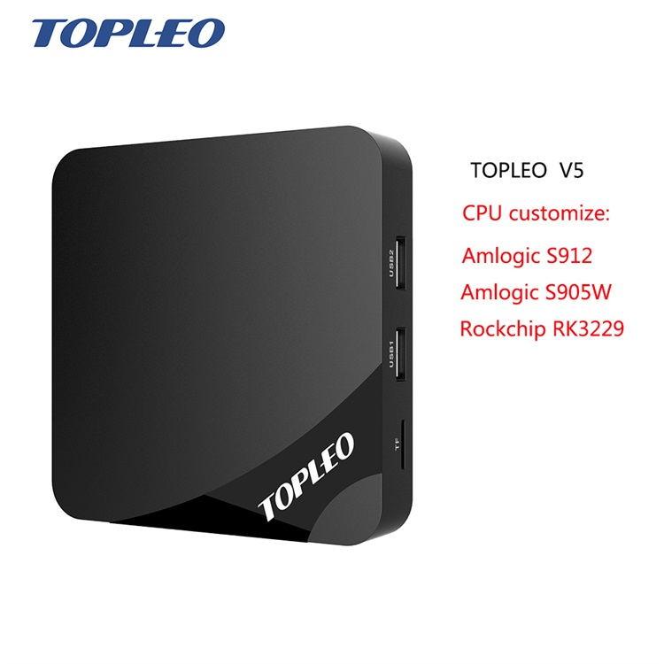 Topleo V5 CPU Customize Amlogic S905W /s912/Rockchip RK3229