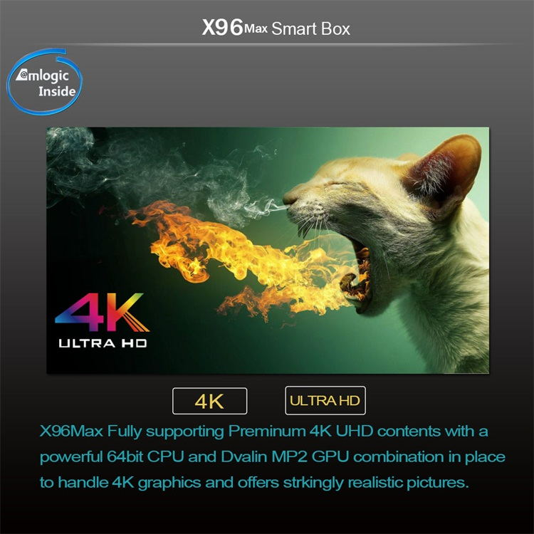 X96 MAX Amlogic S905X2 4GB 32GB android8 1 tv box - top